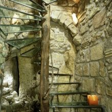 Dining at a medieval retreat in Rome