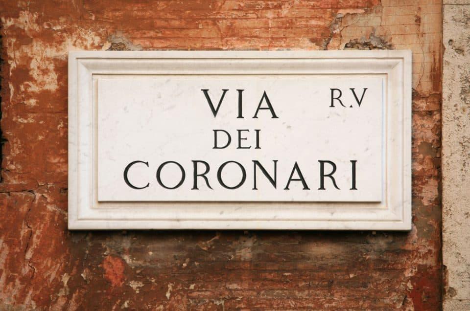 'Romeing' down Via Dei Coronari